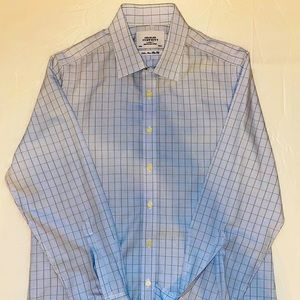 Charles Tyrwhitt green stripe & blue dress shirt